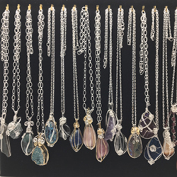Healing Stone Wire Wrapped Pendants